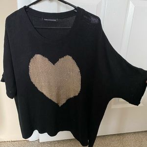 Foreign Exchange, Mesh, heart shaped shirt.